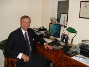 Richard Green at desk